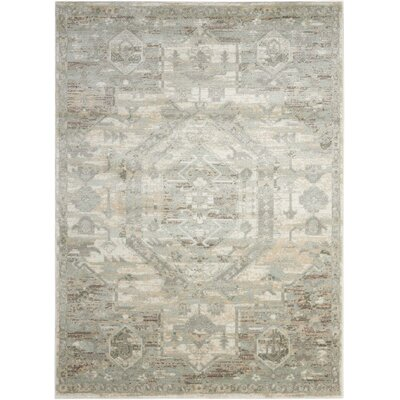 Menthe Gray/Ivory Area Rug Rug Size: Rectangle 67 x 96
