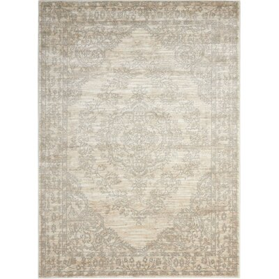 Angelique Bone Area Rug Rug Size: 67 x 96