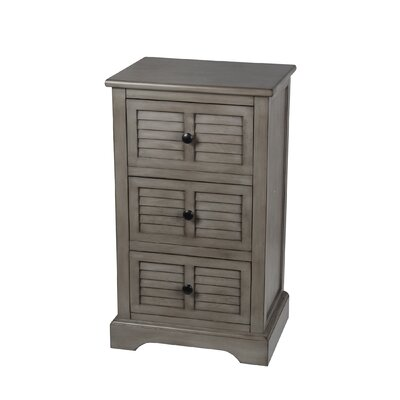 Maeva 3 Drawer End Table Finish: Matte
