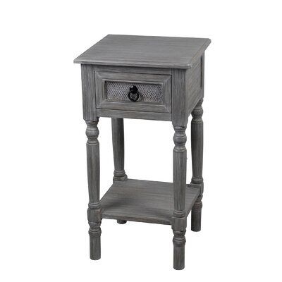 Theodora� 1 Drawer Wood End Table