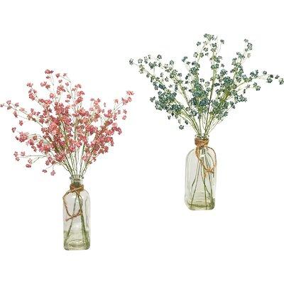 2 Piece Baby's Breath in Vintage Inspired Floral Arrangements Flower Color: Mauve/Green