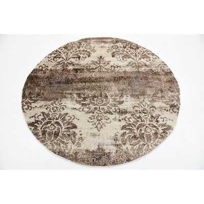 Mathieu Dark Beige/Cream Area Rug Rug Size: Rectangle 5 x 8