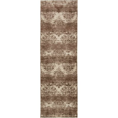Mathieu Dark Beige/Cream Area Rug Rug Size: Runner 3 x 910