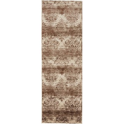 Mathieu Dark Beige/Cream Area Rug Rug Size: 2 x 6