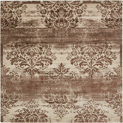 Mathieu Dark Beige/Cream Area Rug Rug Size: Square 8