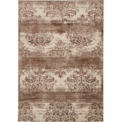 Mathieu Dark Beige/Cream Area Rug Rug Size: 7 x 10