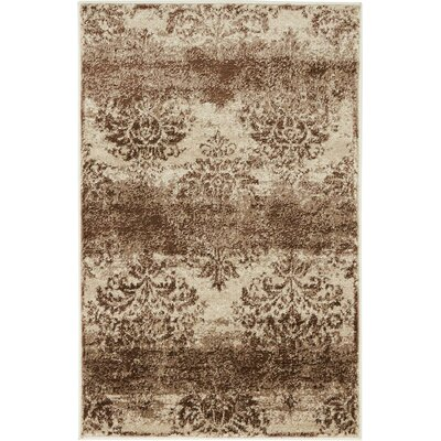 Mathieu Dark Beige/Cream Area Rug Rug Size: 2 x 3