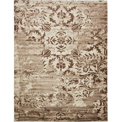 Matis Chocolate Brown/Beige Area Rug Rug Size: 10 x 13