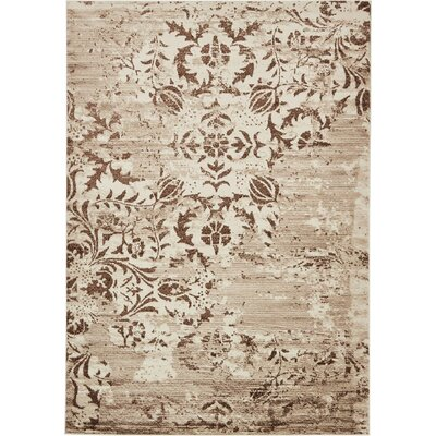 Matis Chocolate Brown/Beige Area Rug Rug Size: 7 x 10