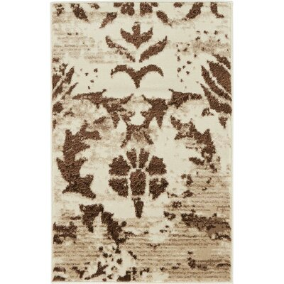 Matis Chocolate Brown/Beige Area Rug Rug Size: 2 x 3