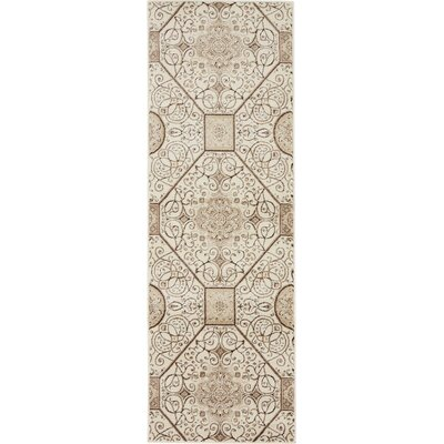 Mathieu Cream/Brown Area Rug Rug Size: Runner 3 x 910