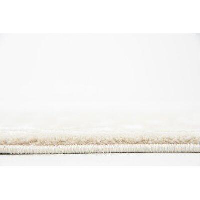 Mathieu Snow White/Beige Area Rug Rug Size: 2 x 6