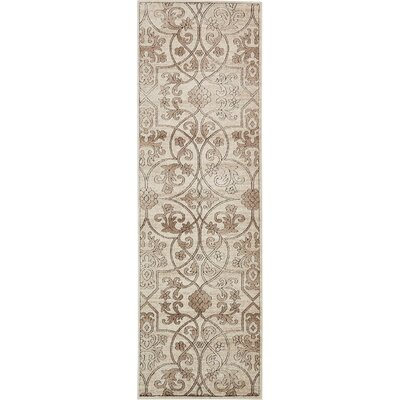 Mathieu Dark Beige/Brown Area Rug Rug Size: Runner 3 x 910