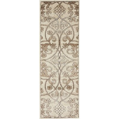 Mathieu Dark Beige/Brown Area Rug Rug Size: 2 x 6