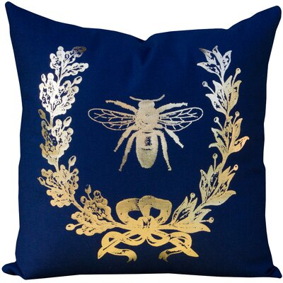 Matys Bee Cotton Throw Pillow