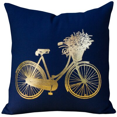 Sainte-Rose Bike Coton Throw Pillow