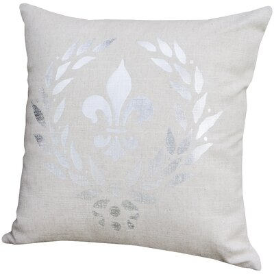 Triste Fleur De Lis Throw Pillow