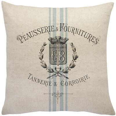 Matthias Vintage Grainsack Linen Throw Pillow Size: 20