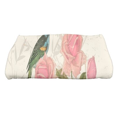 Auserine Asian Rose Bath Towel Color: Cream/Ivory