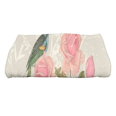 Lablanc Asian Rose Bath Towel Color: Beige/Taupe