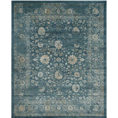 Melia Blue/Beige Area Rug Rug Size: Rectangle 3 x 5