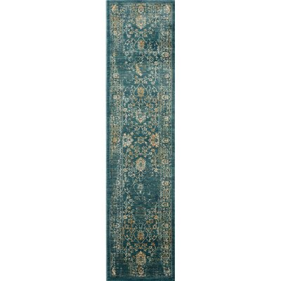 Melia Blue/Beige Area Rug Rug Size: Runner 2 x 12