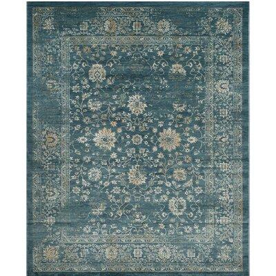 Melia Blue/Beige Area Rug Rug Size: 3 x 5