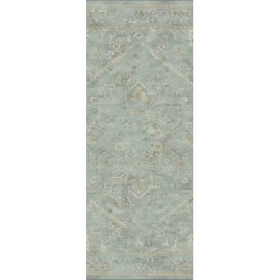Meline Wool Gray Area Rug Rug Size: Rectangle 53 x 76