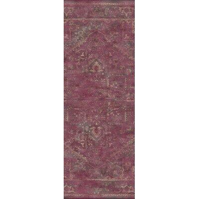 Meline Red Area Rug Rug Size: Runner 22 x 8