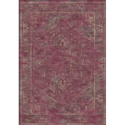 Meline Red Area Rug Rug Size: 67 x 92
