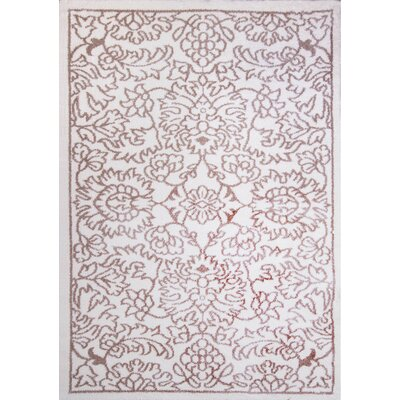 Michel Ivory/Beige Area Rug Rug Size: 22 x 39
