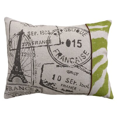 Clematite French Stamps Screen Print Linen Lumbar Pillow