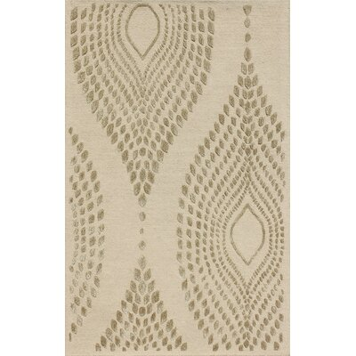 Talence Hand-Tufted Sand/Brown Area Rug Rug Size: 26 x 4