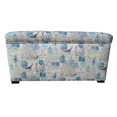 Pavot Fabric Storage Bedroom Bench Color: Primary Artic Blue