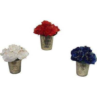 Holiday 3 Piece Glimmery Rose Arrangement Set