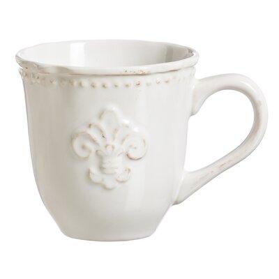 Cyrielle Fleur de Lis Ceramic Cup LARK7010