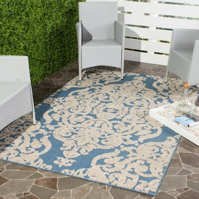 Lievin Blue Indoor/Outdoor Area Rug Rug Size: Rectangle 33 x 53