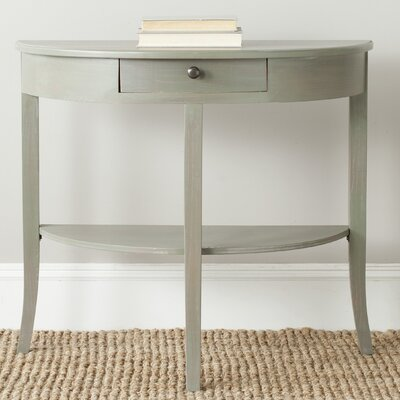Tussilage Alex Console Table Color: French Gray