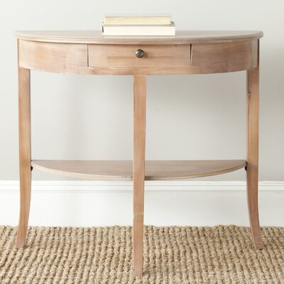 Tussilage Alex Console Table Color: Red Maple