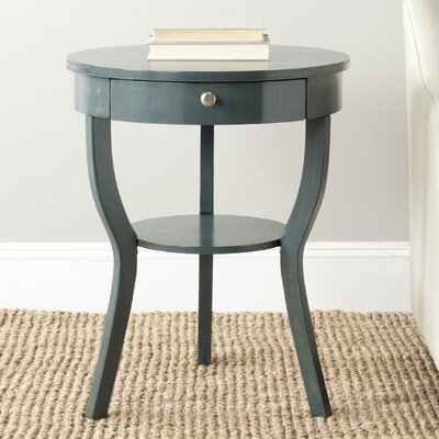 Tussilage Kendra End Table Color: Steel Teal