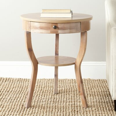 Tussilage Kendra End Table Color: Red Maple
