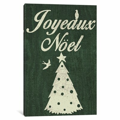 Noel Graphic Art on Wrapped Canvas