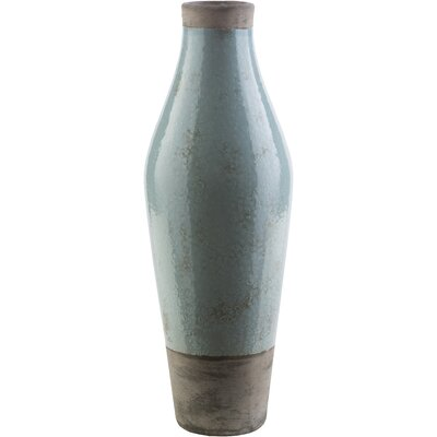 Evry Light Gray Ceramic Table Vase Size: 19.09