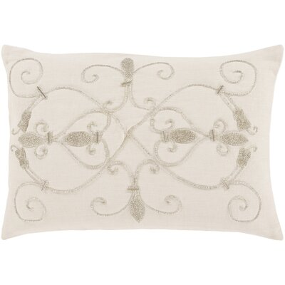 Pensee 100% Linen Lumbar Pillow Cover Color: Cream