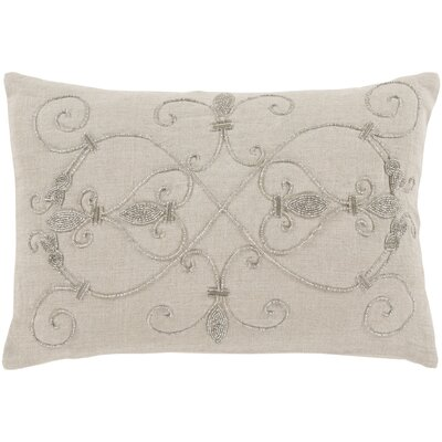 Pensee 100% Linen Lumbar Pillow Cover Color: NeutralMetallic