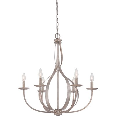 Emely 6-Light Candle-Style Chandelier