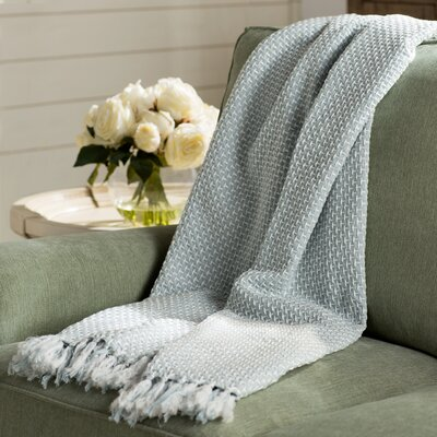 Leny Cotton Viscose Throw Blanket Color: Light Gray