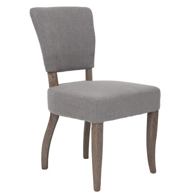 Estella Side Chair Upholstery: Taupe