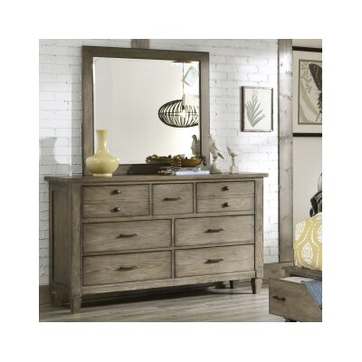 Armoise 7 Drawer Dresser with Mirror