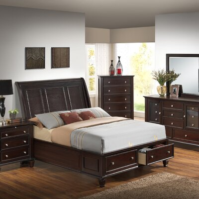 Albertine Platform Bed Size: King, Color: Cappuccino